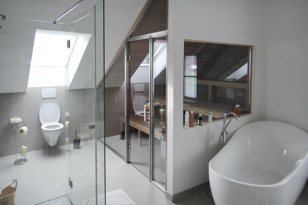 Altbausanierung Bad mit Sauna @Econom GmbH