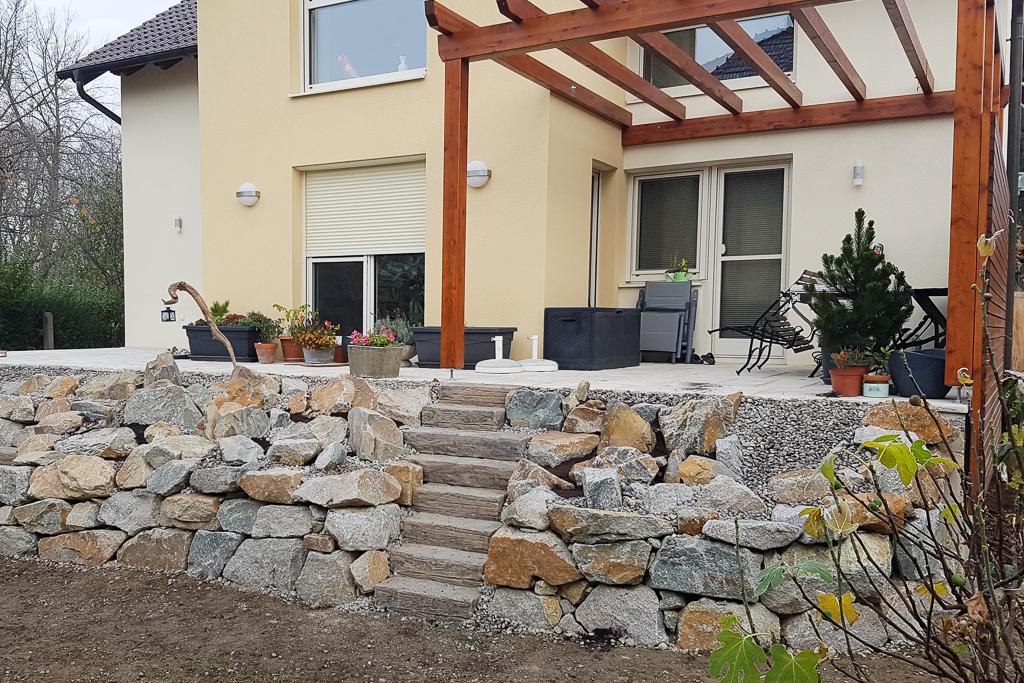 Gartengestaltung Trockensteinmauer @Econom GmbH